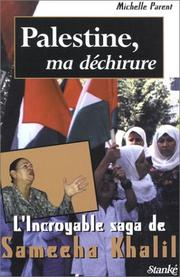 Cover of: Palestine, ma déchirure