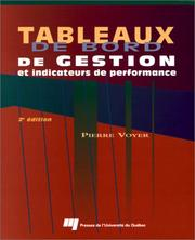 Cover of: Tableaux de bord de gestion et indicateurs de performance by Voyer, Pierre.