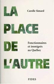 Cover of: La place de l'autre