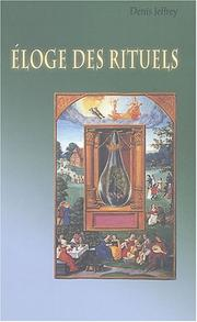 Cover of: Eloge des rituels
