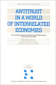 Cover of: Antitrust in a world of interrelated economies | MaМЃrio Marques Mendes
