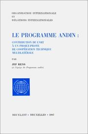 Cover of: Le Programme andin