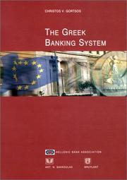 Cover of: Greek banking system | Christos V. Gortsos