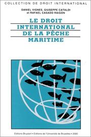 Cover of: Le droit international de la pêche maritime