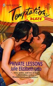 Cover of: Private Lessons (Blaze) | Julie Elizabeth Leto