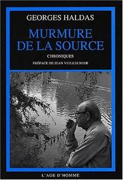 Cover of: Murmure de la source