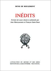 Cover of: Inédits