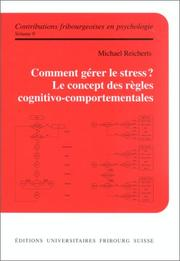 Cover of: Comment gérer le stress?