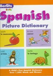 Cover of: Berlitz Spanish Picture Dictionary | Berlitz Publishing