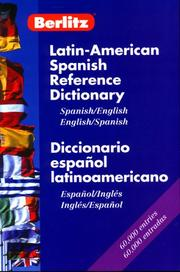 Cover of: Latin-American Spanish Reference Dictionary