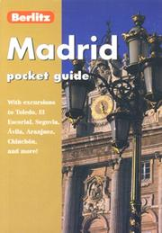 Cover of: MADRID POCKET GUIDE (Pocket Guides) |