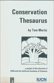 Cover of: Conservation thesaurus