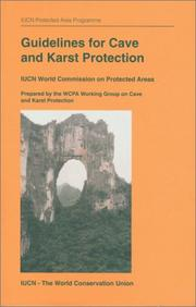 Cover of: Guidelines for cave and karst protection |