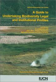 Cover of: A guide to undertaking biodiversity legal and institutional profiles