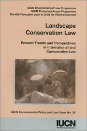 Cover of: Landscape conservation law |