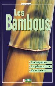 Cover of: Les bambous