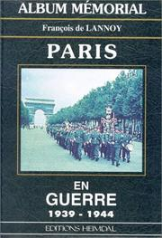 Cover of: Album mémorial Paris en guerre