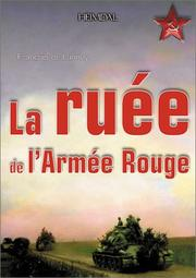 Cover of: La ruée de l'Armée rouge