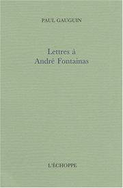 Cover of: Lettres à André Fontainas