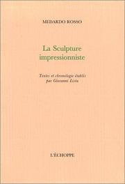 Cover of: La sculpture impressionniste