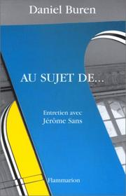 Cover of: Au sujet de--