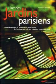 Cover of: L' art des jardins parisiens