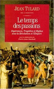 Cover of: Le temps des passions