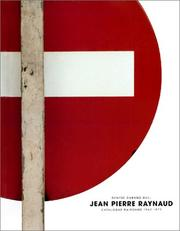Cover of: Jean-Pierre Raynaud