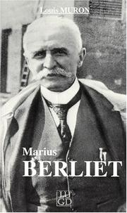 Cover of: Marius Berliet