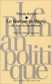 Cover of: Le roman politique