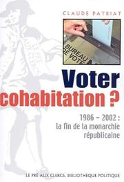 Cover of: Voter cohabitation?