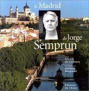 Cover of: Le Madrid de Jorge Semprun