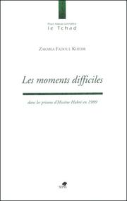 Cover of: Les moments difficiles