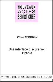 Cover of: Une interface discursive