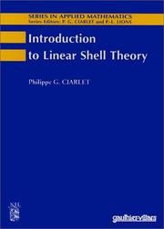 Cover of: Introduction to Linear Shell Theory | P. G. Ciarlet