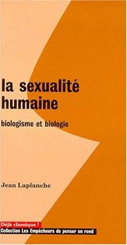 Cover of: La sexualité humaine