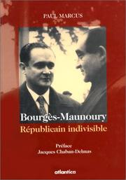 Cover of: Maurice Bourgès-Maunoury