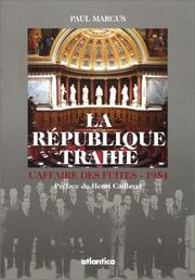 Cover of: La République trahie