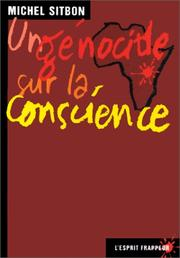 Cover of: Un génocide sur la conscience