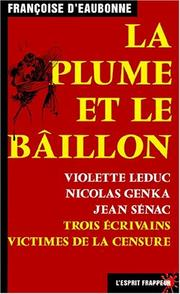 Cover of: La plume et le bâillon