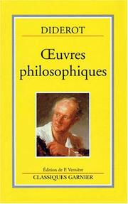Cover of: Œuvres philosophiques