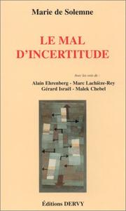 Cover of: Le mal d'incertitude