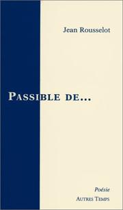 Cover of: Passible de--