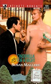 Cover of: Cinderella for a Night (36 Hours) (Silhouette Intimate Moments, 1029) (Intimate Moments, 1029)