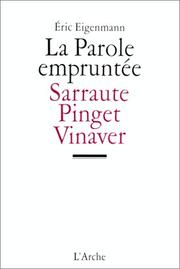 Cover of: La parole empruntée