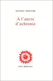 Cover of: A l'ancre d'achronie