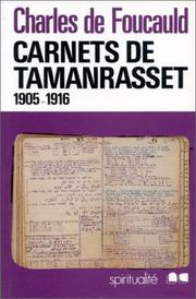 Cover of: Carnets de Tamanrasset
