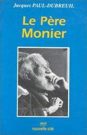 Cover of: Le père Monier (1886-1977)
