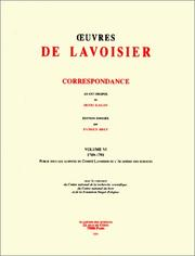 Cover of: Euvres de Lavoisier: Correspondance