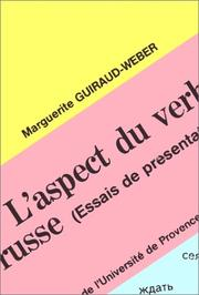 Cover of: L' aspect du verbe russe